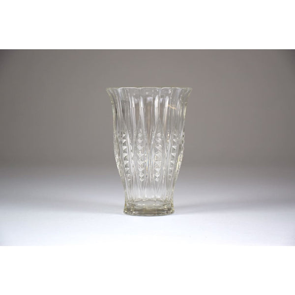 1930's Art Deco Charles Graffart Cut Crystal Vase - Spirit Gallery