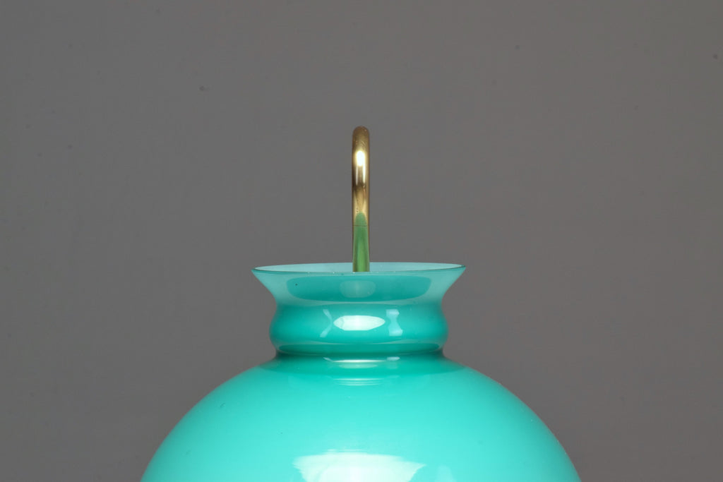 Shop 1950's Mid-Century Ignazio Gardella Turquoise Brass Table Lamp - Spirit Gallery