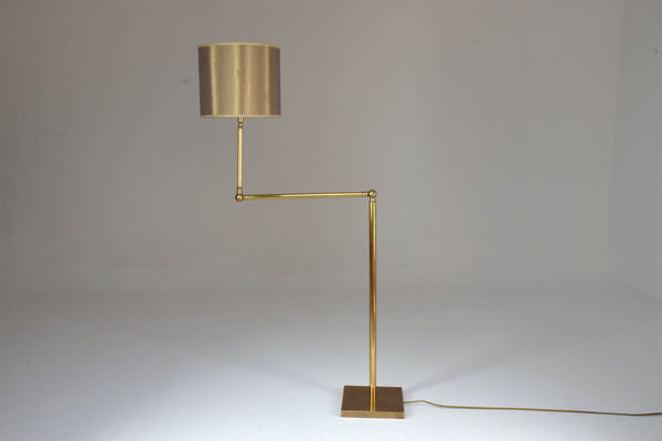 20th Century French Brass Floor Lamp, 1960's - Spirit Gallery