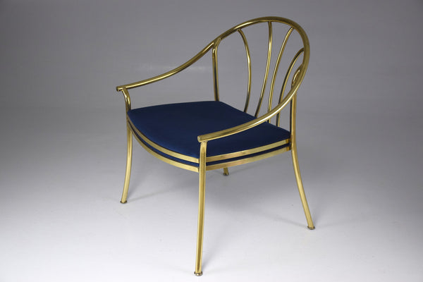 Shop 20th Century Italian Brass Armchair, 1970-1980 - Spirit Gallery