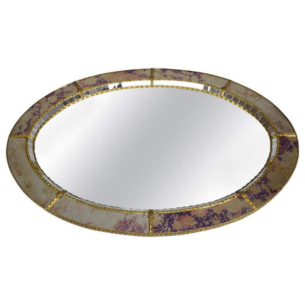 20th Century Italian Vintage Art Deco Wall Mirror, 1930's - Spirit Gallery