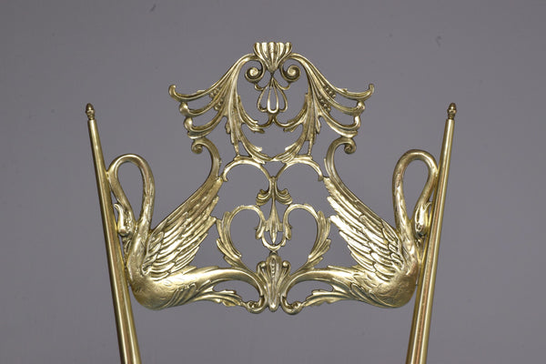 Shop 20th Century Pair of Italian Vintage Brass Swan Chairs, 1950s - Spirit Gallery