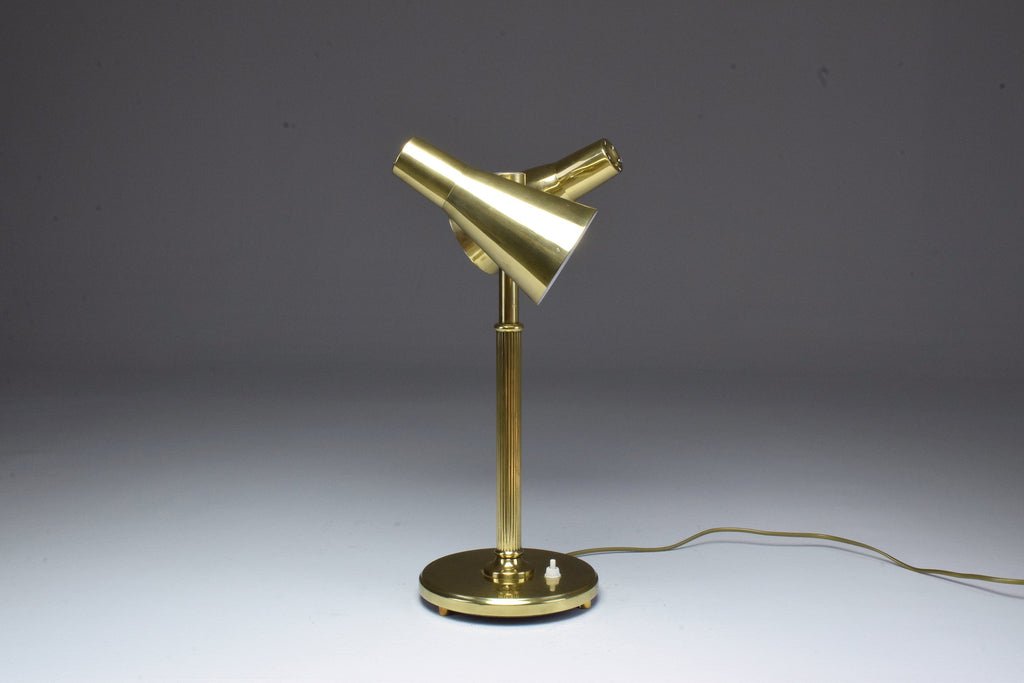 Shop 20th Century Scandinavian Brass Double Shade Table Lamp by Sønnico, 1960s - Spirit Gallery