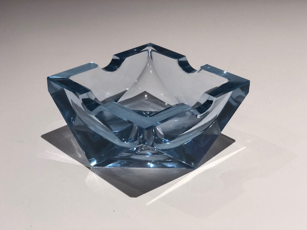 20th Century Vintage Art Deco Glass Ashtray, 1930-1940 - Spirit Gallery