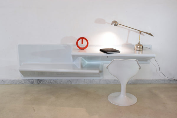 20th Century Vintage Fiberglass Shelf and Desk by Knoll - Spirit Gallery