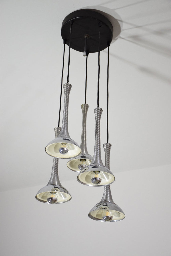 Shop 20th Century Vintage Italian Chrome Pendant Light, 1970's - Spirit Gallery