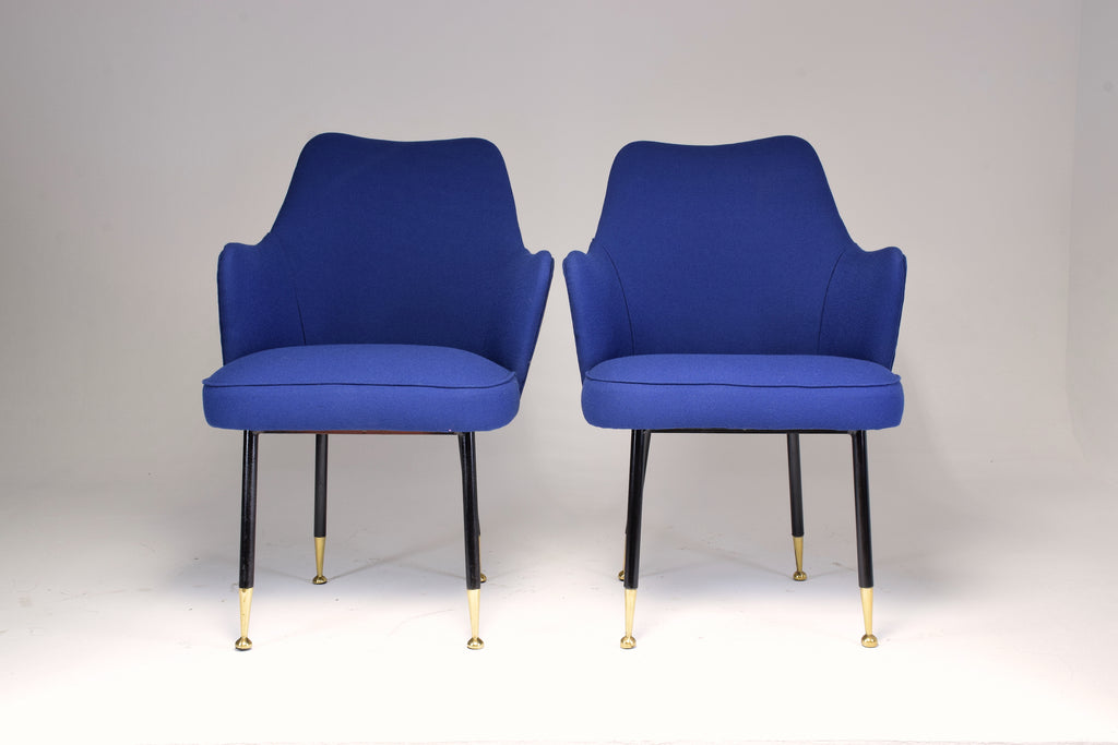 Shop 1950s Pair of Midcentury Armchairs Attributed to Gastone Rinaldi - Spirit Gallery