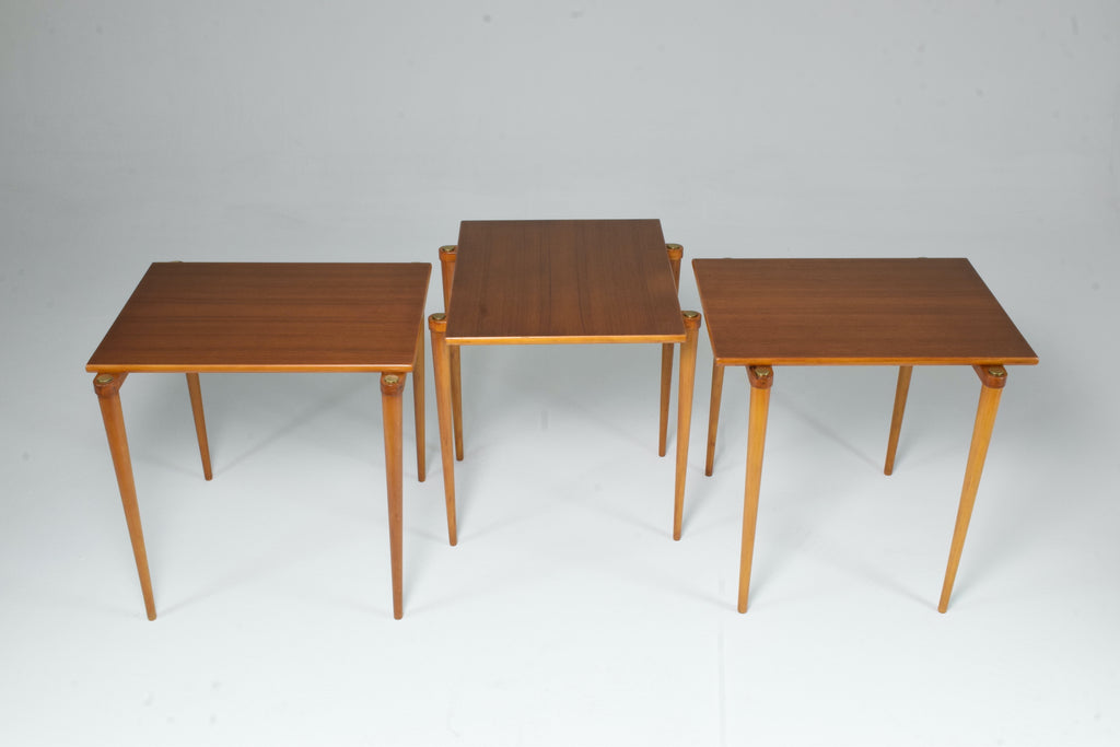 1960's Set of Three Italian Mid-Century Modern Side Tables