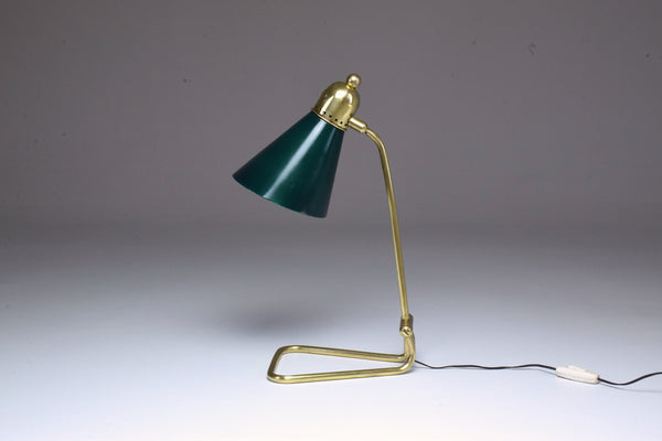 French Vintage Brass Table Lamp by Robert Mathieu, 1950's - Spirit Gallery