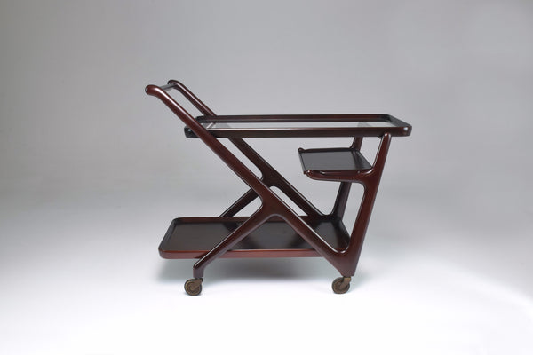 Italian Cesare Lacca for Cassina Bar or Serving Cart Trolley, 1950s - Spirit Gallery