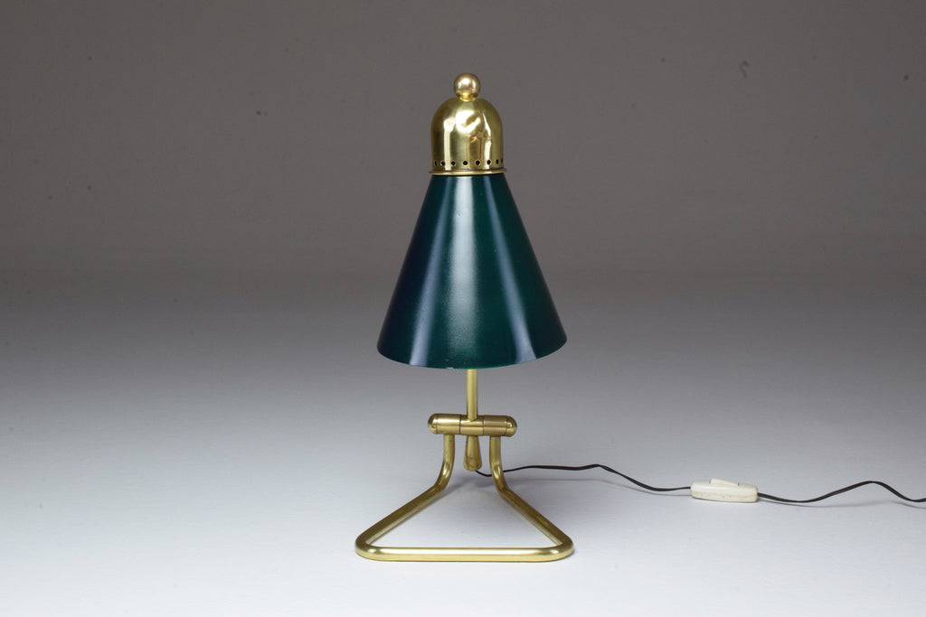 Shop French Vintage Brass Table Lamp by Robert Mathieu, 1950's - Spirit Gallery