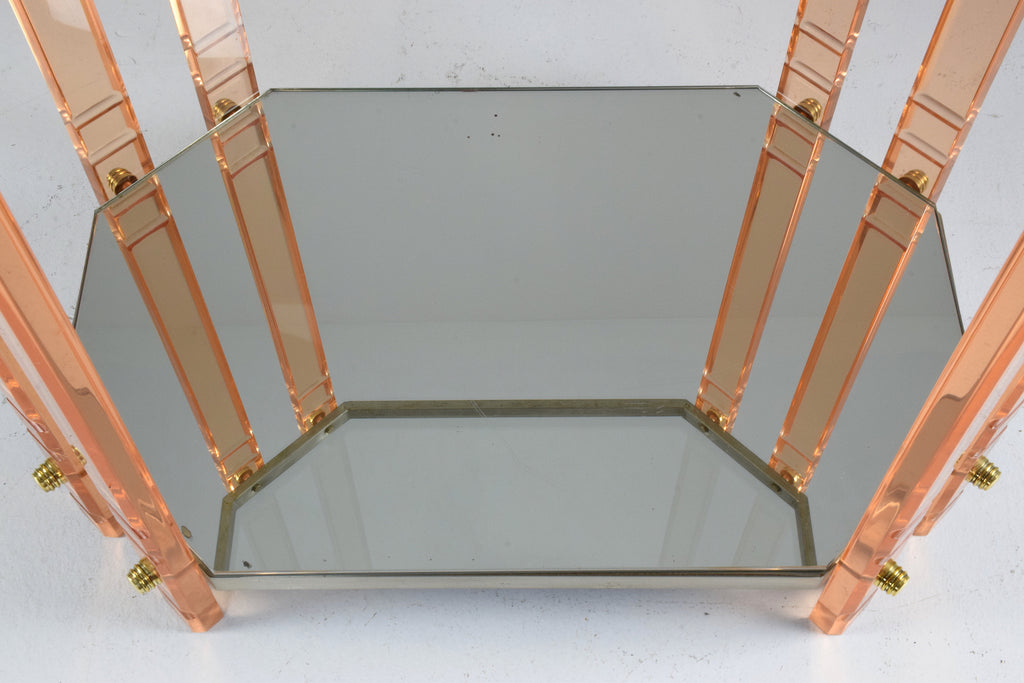 French Vintage Plexiglass Bar Cart, 1970's - Spirit Gallery