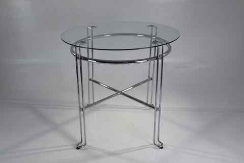 French Stainless Steel Side Tables, France, 1970's - Spirit Gallery