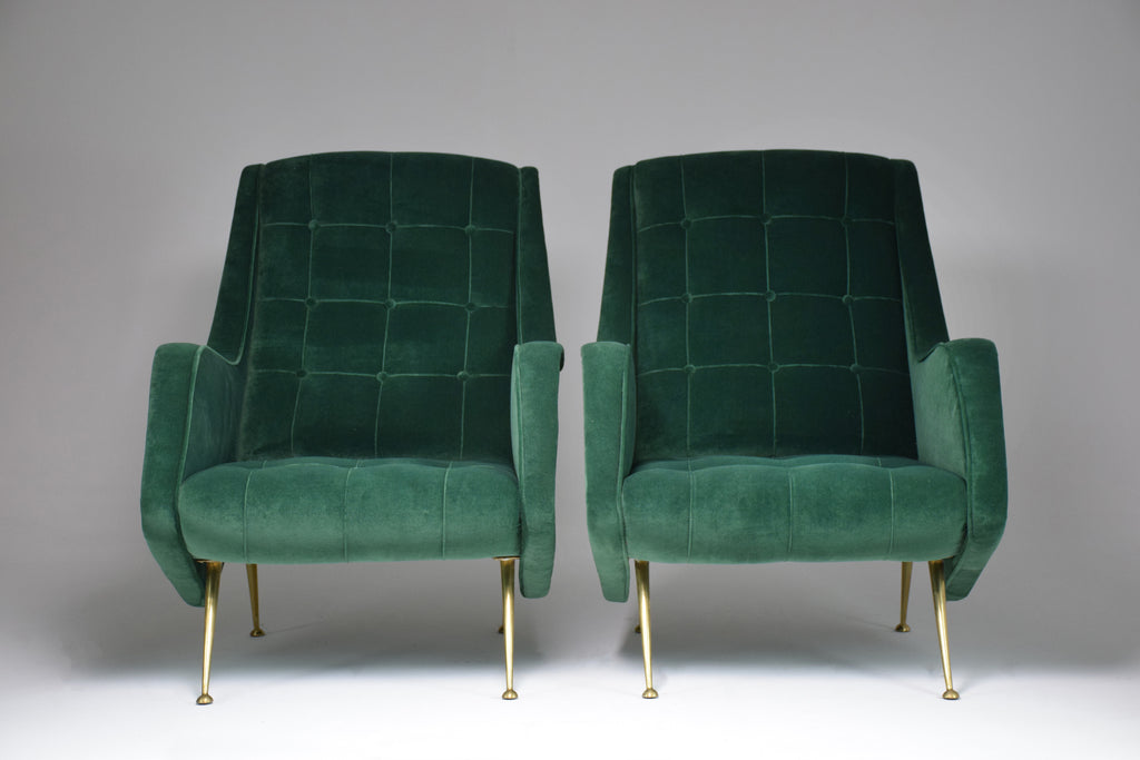 1950's Pair of Italian Midcentury Armchairs by Aldo Morbelli - Spirit Gallery