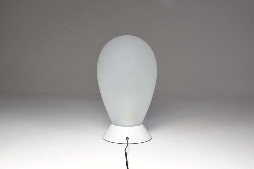 1970s Carlo Nason Table Lamp In White Murano Glass - Spirit Gallery