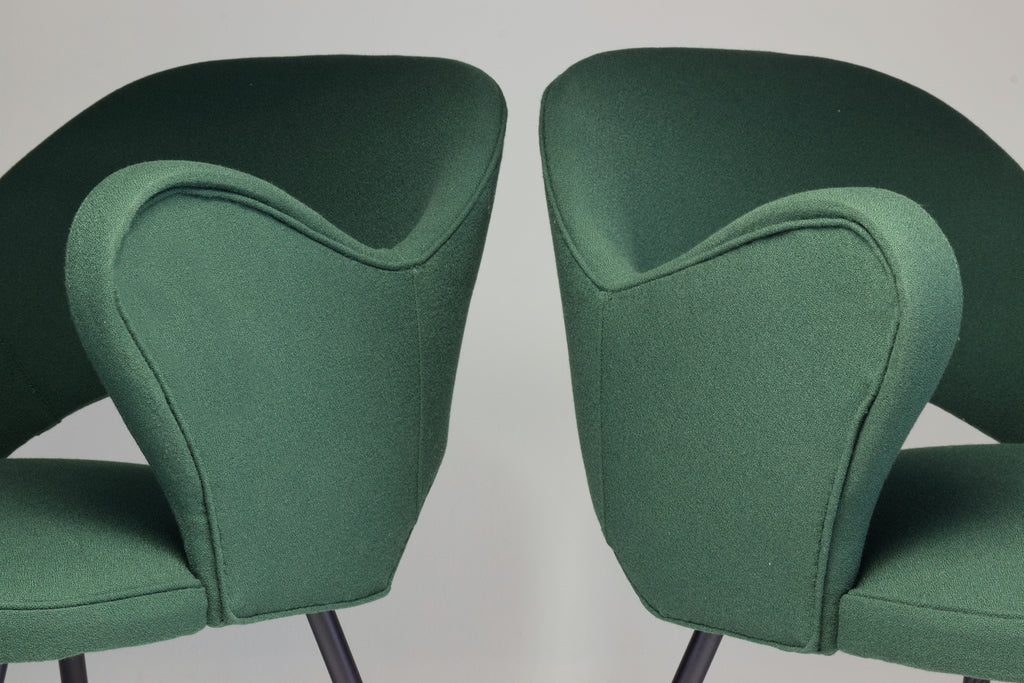 1950s Pair of Italian Green Armchairs - Spirit Gallery