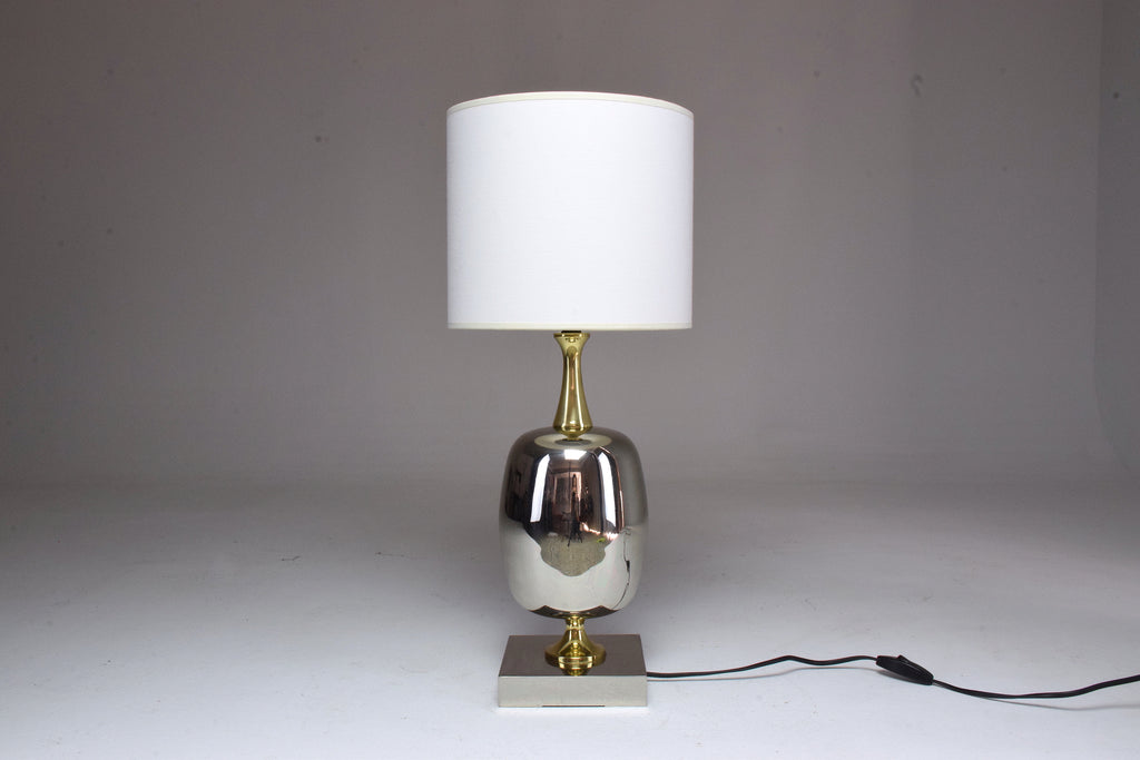 French Vintage Brass Table Lamp, 1970's - Spirit Gallery