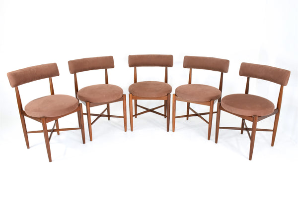 Shop Danish Teak Dining Chairs by V B Wilkins for G Plan, Set Of 5, 1967 - Spirit Gallery