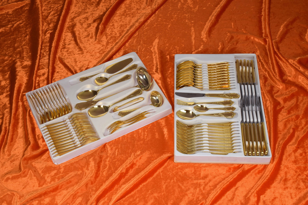 24 karat 11 pers. Flatware Cutlery Set by Nivella Solingen - Spirit Gallery