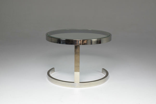 1970's French Side Table by Boris Tabacoff for MMM - Spirit Gallery