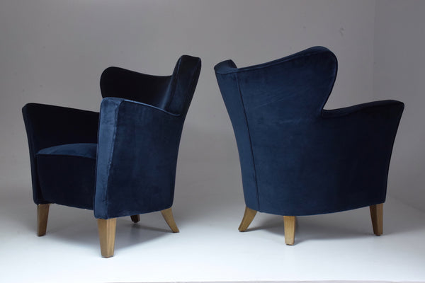 French Pair of 20th Century Vintage Armchairs, 1980's - Spirit Gallery