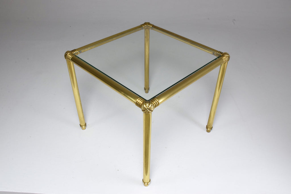 Shop French Vintage Brass Glass Coffee Table, 1970's - Spirit Gallery