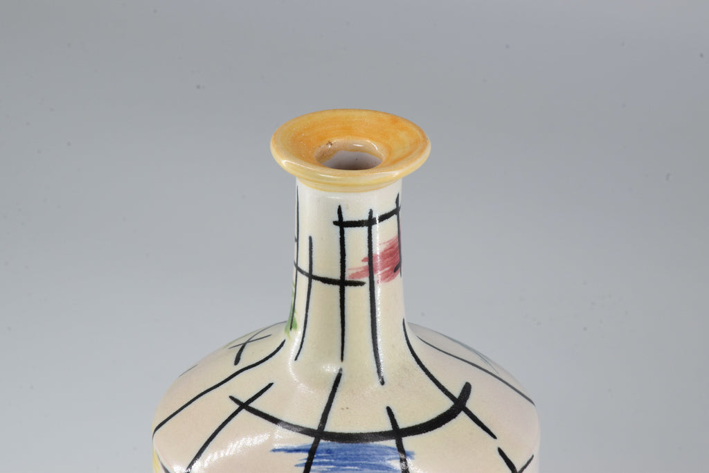 1950s Italian Pucci Umbertide Colorful Ceramic Vase - Spirit Gallery