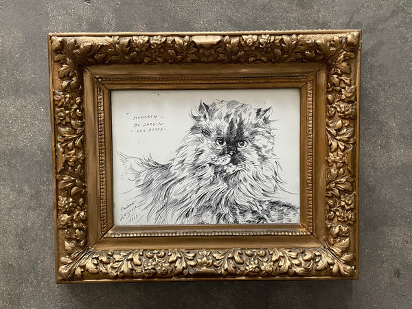 Cat Ink Paiting by Paulette Lagosse, 1969 - Spirit Gallery