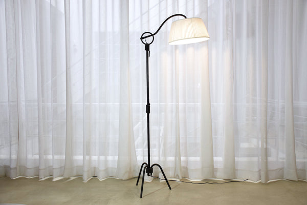 Adjustable Iron Floor Lamp Attributed to Jean Royère, 1940s - Spirit Gallery
