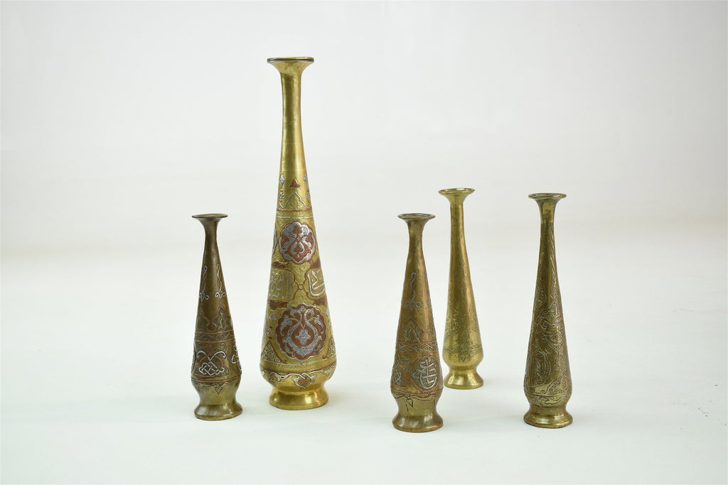 Shop Antique Islamic Syrian Single Flower Vases, Set of Five - Spirit Gallery