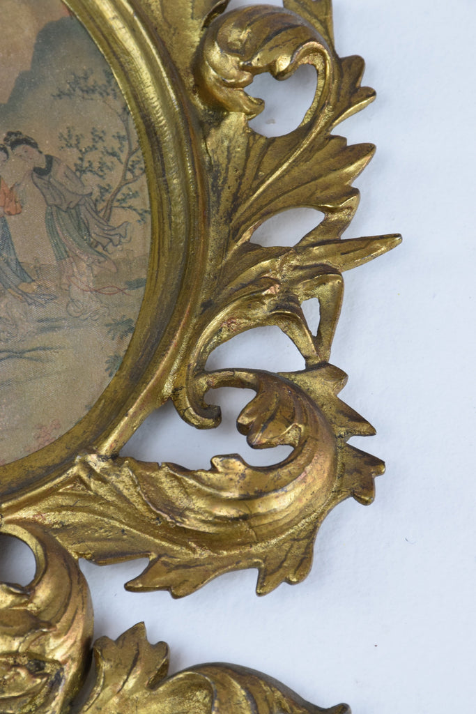 Antique Japanese Watercolours in Italian Giltwood Frames - Spirit Gallery