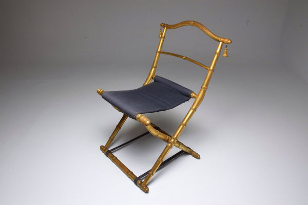 Antique Wooden Folding Chair, Napoleon III - Spirit Gallery