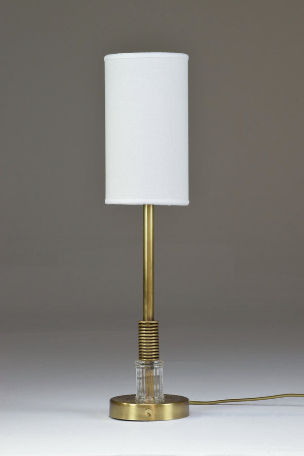 Brass and Glass Table Lamp, Confinement Collection by JAS - Spirit Gallery
