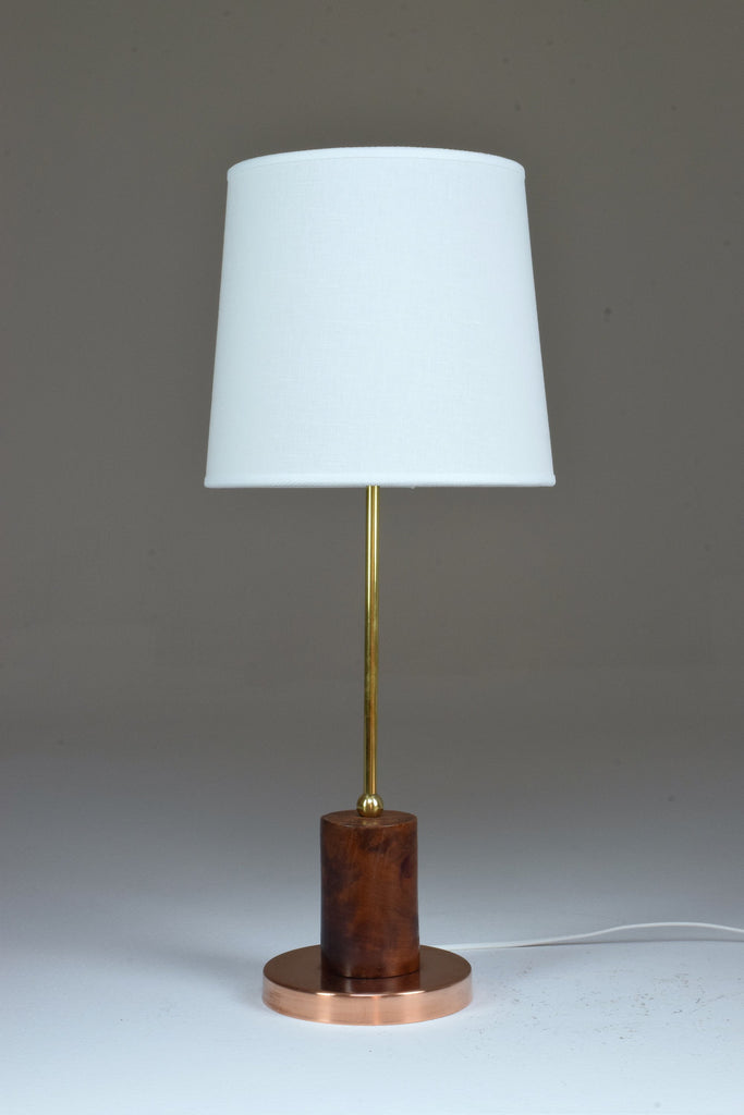 Shop Brass and Wood Table Lamp, Confinement Collection by JAS - Spirit Gallery