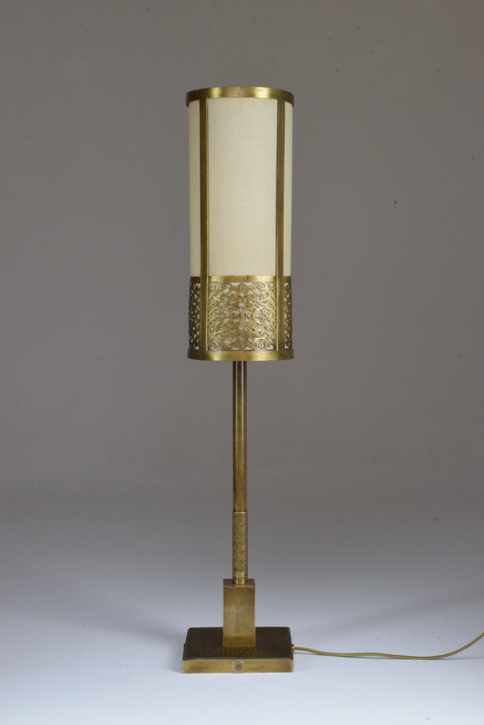 Brass Table Lamp, Confinement Collection by JAS - Spirit Gallery
