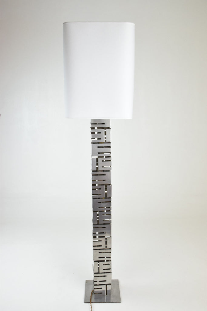 Building Metal Floor Lamp by Curtis Jere, USA, 1970's - Spirit Gallery