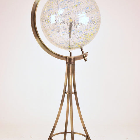 Shop Celestial Globe on Brass Tripod by Robert Farquhar, United States, 1970's - Spirit Gallery