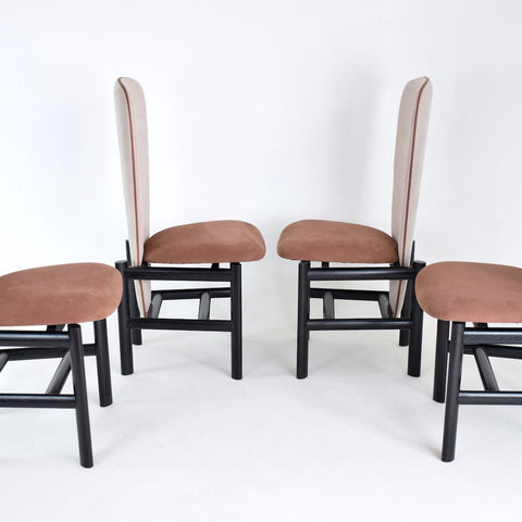 Shop Dutch High Back Mid-Century Oak Dining Chairs, Set of 4 - Spirit Gallery