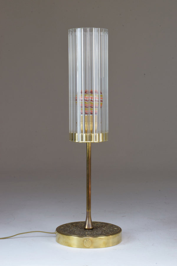 Shop Engraved Brass Table Lamp, Confinement Collection by JAS - Spirit Gallery