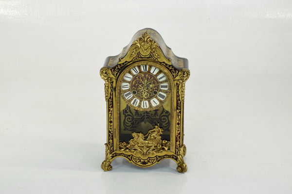 French Antique Boulle Mantel Clock - Spirit Gallery