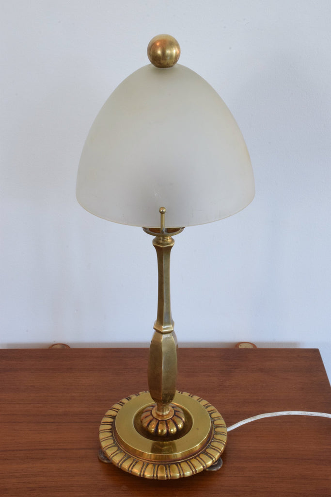 Shop French Art Deco Bronze Table Lamp by Henry Petitot, 1930's - Spirit Gallery