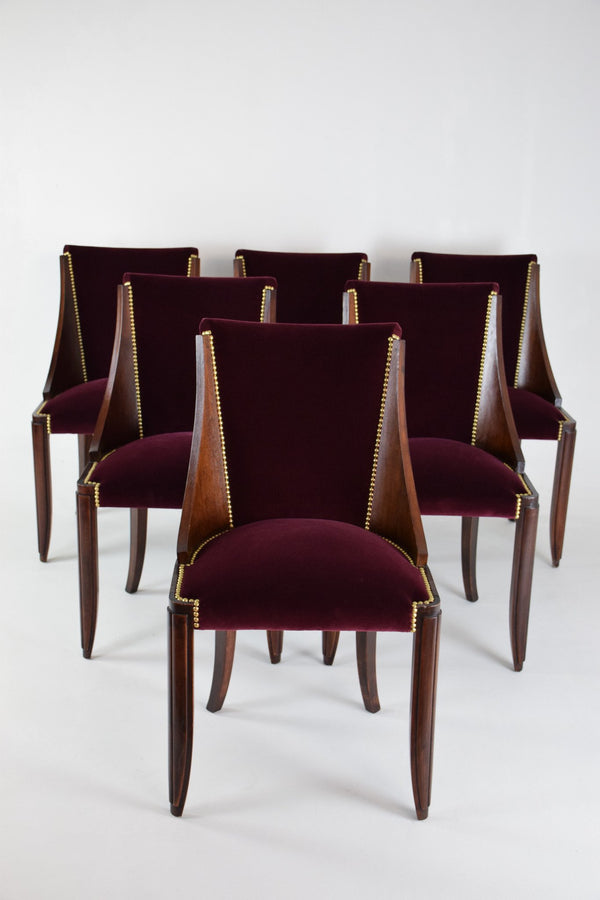 Shop French Art Deco Dining Chairs, 1930's, Set Of 6 - Spirit Gallery