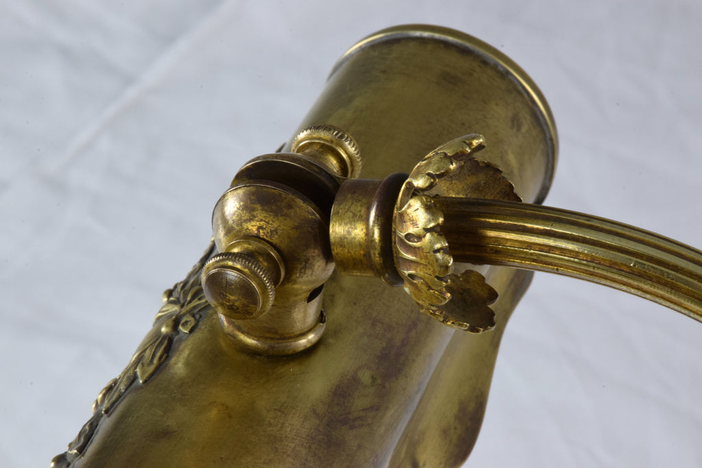French Art Nouveau Brass Piano Lamp - Spirit Gallery