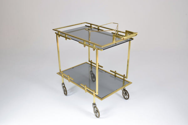 French Brass Bar or Serving Cart Trolley, 1970's - Spirit Gallery
