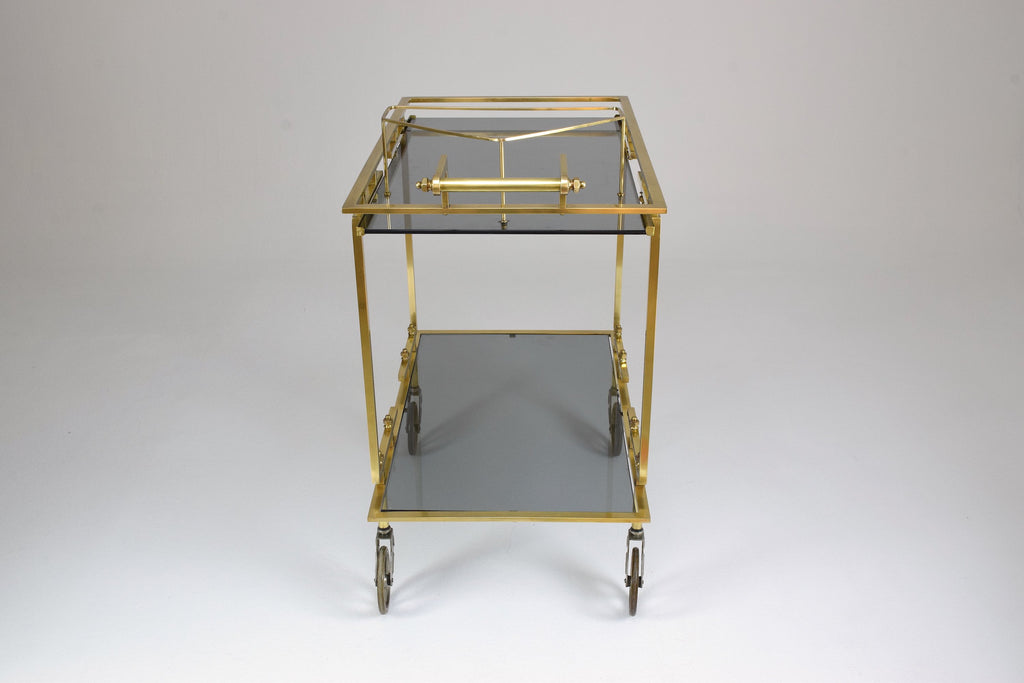 Shop French Brass Bar or Serving Cart Trolley, 1970's - Spirit Gallery
