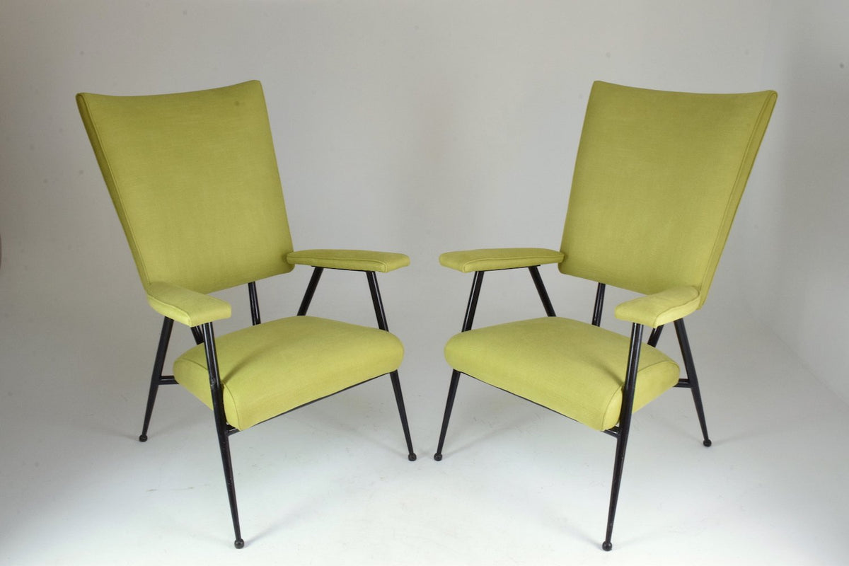 French Mid Century Armchairs Set Of Four 1950 S Spirit Gallery