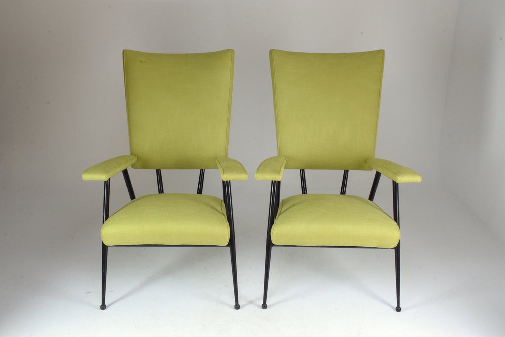 Shop French Mid-Century Armchairs, Set of Four, 1950's - Spirit Gallery