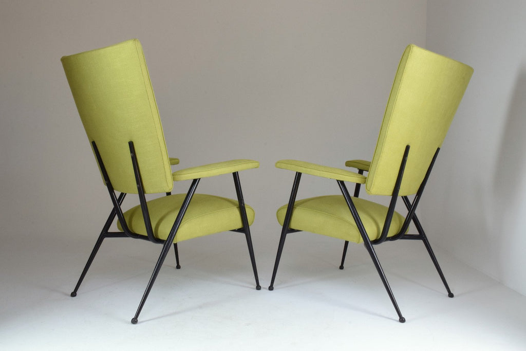 French Mid-Century Armchairs, Set of Four, 1950's - Spirit Gallery