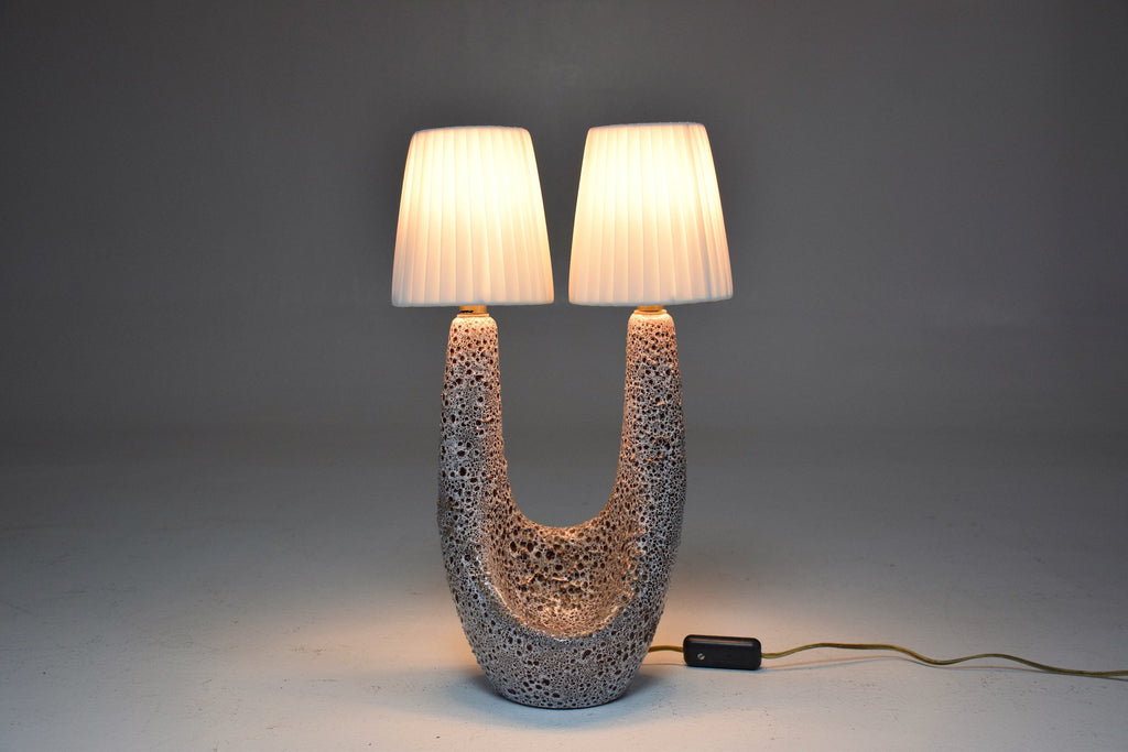 Shop French Mid-Century Ceramic Table Lamp by Vallauris le Vaucour, 1950's - Spirit Gallery