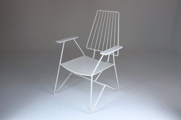 Shop French Mid-Century Modern Armchair by Mathieu Mategot, 1950's - Spirit Gallery